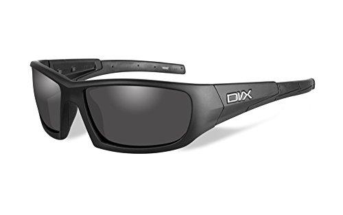 DVX Static - ANSI Z87.1 - Grey Lenses/Matte Black Frame (OSHA Compliant Safety Glasses)