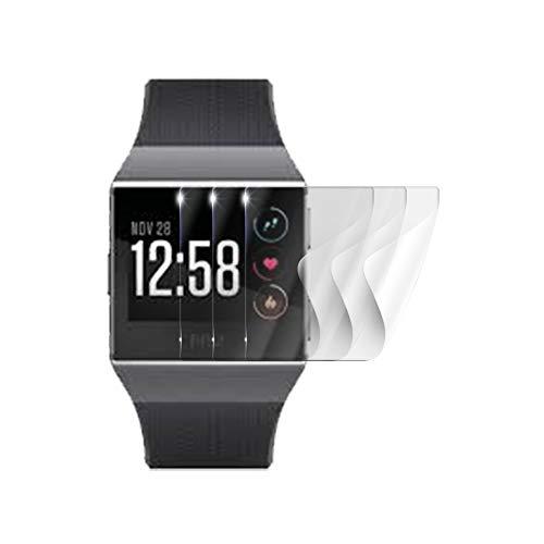 Screenshield Schutzfolie Fitbit Ionic [3 Stück] - volle Abdeckung des Displays - blasenfrei, beständig, flexibel und selbstheilend gegenüber Mikrokratzern; kein Panzerglas