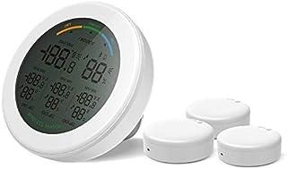 hkwshop Higrómetro para Interior Termómetro Digital LCD Higrómetro Humedad Temperatura Humedad inalámbrica Instrumentos de...