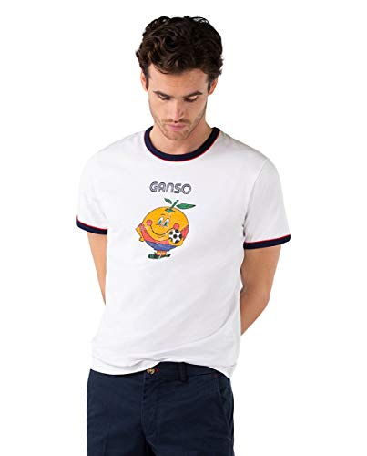 El Ganso Camiseta Naranjito Selección RFEF Blanca.