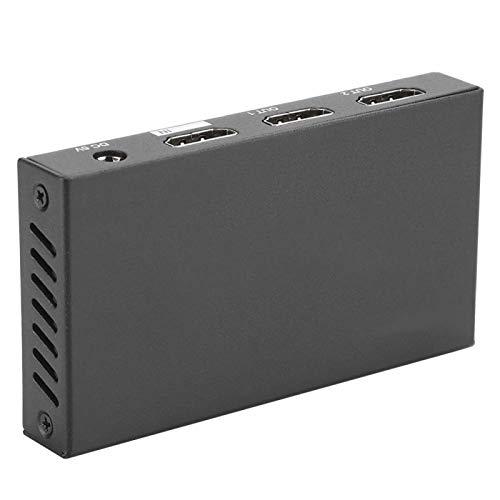 FOLOSAFENAR Adaptador HDMI fácil de Llevar del Divisor de HDMI del Material del Metal, para la Oficina, para el hogar