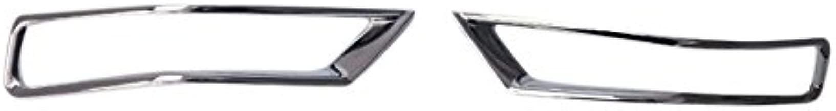 HIGH FLYING para 500X 2015-2018 Embellecedor faros antiniebla cromado 2 piezas Pl/ástico ABS