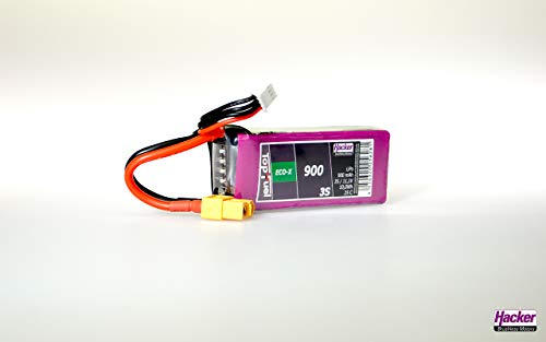Hacker Modellbau-Akkupack (LiPo) 11.1 V 900 mAh Zellen-Zahl: 3 25 C Softcase XT60