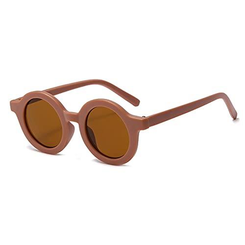 YTYASO Niños Gafas de Sol polarizadas Caucho Redondo Unisex Moda Niño Niña Gafas de Sol UV400 Gafas de Sol para niños Tr90