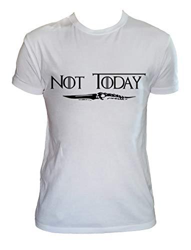 Camiseta Not Today Hombre Niño Arya Stark Juego de Tronos Series TV, Hombre - L
