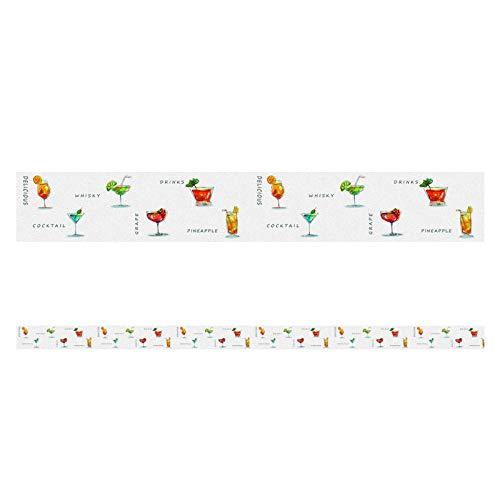 Cenefa autoadhesiva borde zumo de frutas10X500CM decorativo para baño sala de estar, cocina