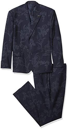 STACY ADAMS Men s 2 Pc Slim Fit Suit Navy 34R product image