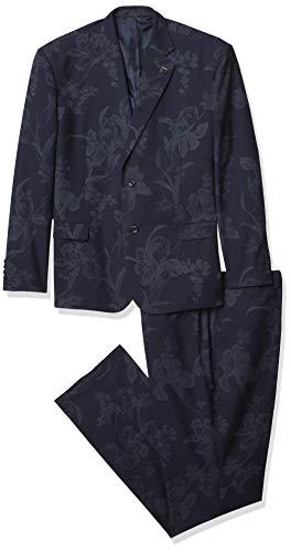 STACY ADAMS Men's 2 Pc. Slim Fit Suit, Navy, 46L