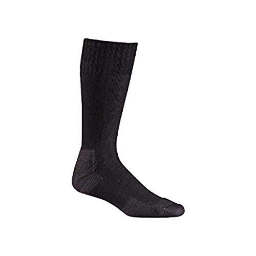 Fox River Wick Dry Socken für Herren, 3er-Pack, extra gepolsterte Halbwaden-Stiefelsocken für stickige frei, super bequeme & frische Füße, Schwarz – Größe M