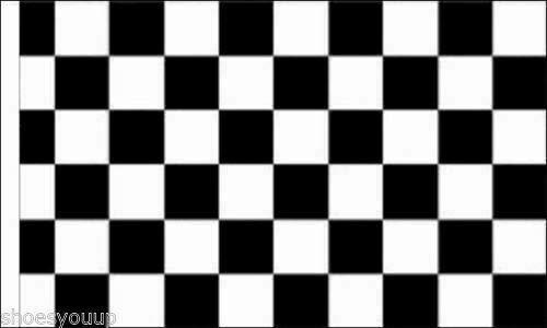 FlagSuperstore© Bootsflagge, kariert, 45 x 30 cm, Schwarz / Weiß