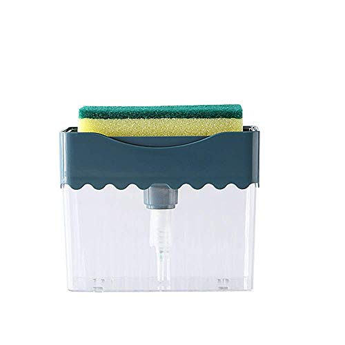 Mein HERZ Seifenspender-Set, Dish Seifenspender, Spülbecken Organizer Pumpseifenspender mit Schwammhalterung, Flüssigseifen-Spender, Spülmittel-Spender Küchenutensilienhalter für Küche