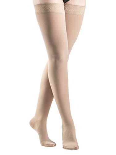 Sigvaris Mujer seleccione comodidad 860Closed-Toe Muslo-alta médico manguera 20–30mmHg, Natural, 1