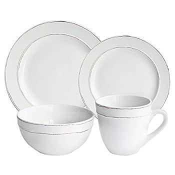American Atelier Olivia Round 16 Piece Dinnerware Set White