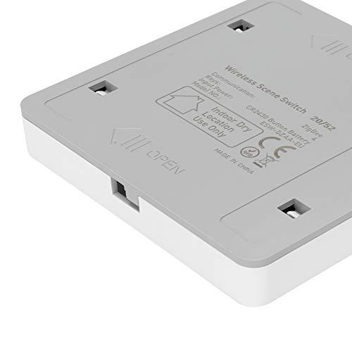 EFFACER Interruptor de Escena, Interruptor ZigBee de automatización del hogar inalámbrico de 4 vías con indicador LED para Familia para ZigBee