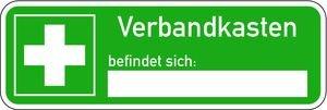 0342. Hinweisschild auf Verbandkasten - KOMBI Folie D-E003 + Verbandskasten - 60x180mm