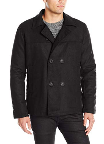 Brave Soul Men's Carlos Double Breasted Pea Coat