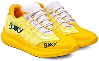 KT Traders Solid Reguler Mesh Lace-Up On Style for Easy Sport Shoes (KT Traders-86-Yellow-7)