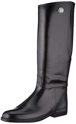 Kerbl Damen Reitstiefel Flexo, PVC Gummi Stiefel Gummireitstiefel, schwarz 39