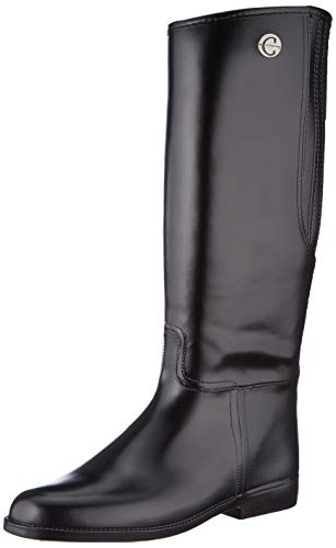 Kerbl Mädchen Reitstiefel Flexo, PVC Gummi Stiefel Gummireitstiefel, schwarz 35