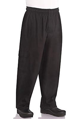 Chef Works Men's J54 Cargo Chef Pants, Black, Medium