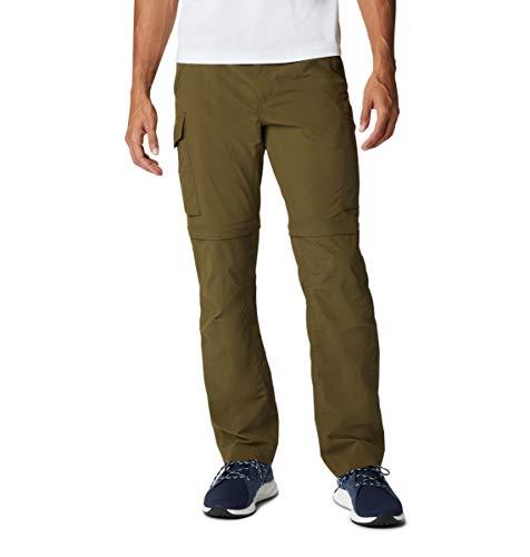 Columbia Silver Ridge - Pantalón Convertible para Hombre, 91,4 cm, Hombre, Silver Ridge - Pantalón Convertible, 1441671, Nuevo Oliva, 40W / 32L