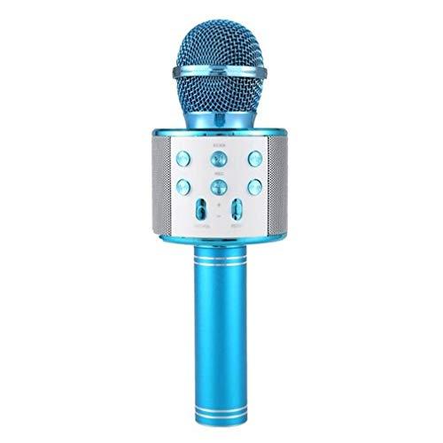 Nsdsb Ktv Inalámbrico Karaoke Micrófono De Mano Reproductor USB Micrófono Altavoz Fiesta En Casa Azul