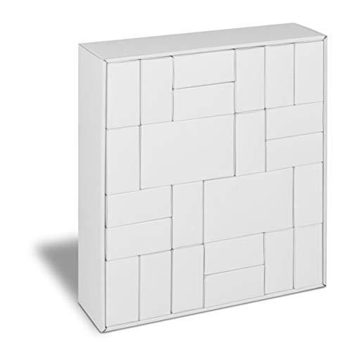 Piccolino Puzzlebox Adventskalender Rohling zum Befüllen, blanko weiß zum Basteln, Bemalen, Selbstgestalten