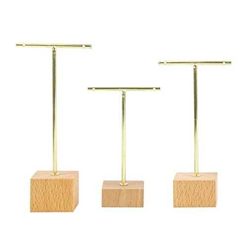 Sharplace Orecchino in Metallo T Bar Stand Retail Display Gioielli Negozi Online Stores Photography Puntelli Organizer per Collane Bracciale Earrings St - Oro