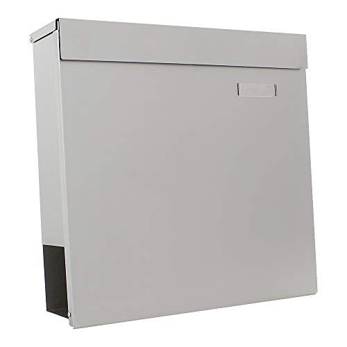 Rottner T05744 Kensington cajas buzón de acero inoxidable de periódicos integrado, Set de 5 Piezas