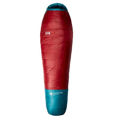 Mountain Hardwear Phantom 30F/-1C Regular Blau-Rot, Daunen Schlafsack, Größe 218 cm - RV rechts - Farbe Alpine Red