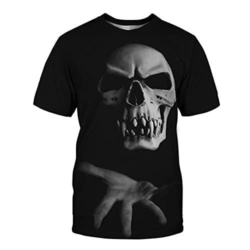 SSBZYES Camiseta De Verano Camiseta De Manga Corta para Hombre Camiseta De Gran Tamaño Camiseta con Estampado De Calavera En La Parte Superior De Los Hombres Camiseta De Manga Corta