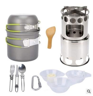 Juego de utensilios de cocina para acampar de 13 piezas,