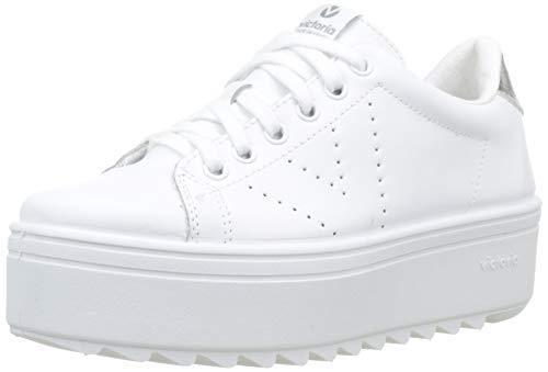 Victoria Sierra Deportivo Piel, Zapatillas Unisex Adulto, Blanco (Blanco 20), 39 EU