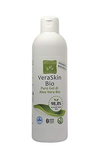 Benessence Puro Gel Aloe Vera Biologica 98,8% - Lenitivo - Idratante - Prodotto Italiano Dalle Nostre Coltivazioni - 250 ml