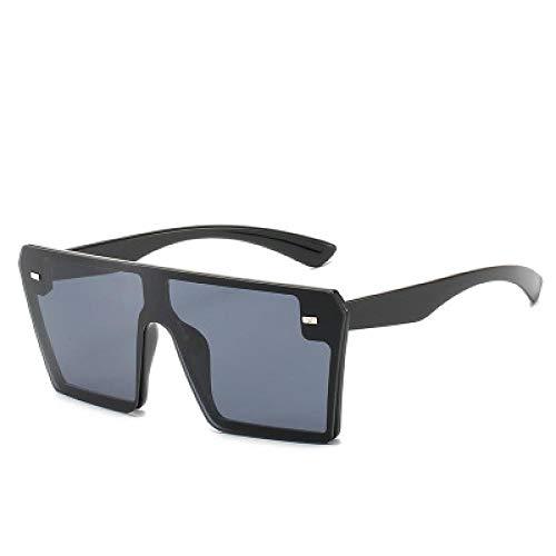 Sunglasses Quadratische Übergroße Sonnenbrille Damen Luxusmarke Sonnenbrille Flat Top Gafas Rimless Shade Sunlass Black