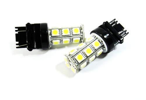 2 x Blanc 182 P27 W 180 P27/7 W Wedge ampoule LED Feu de position latéral Indicateur de signal Queue Arrêt inversée lumière du jour DRL