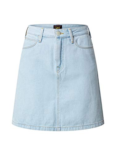 Lee A Line Zip Skirt Falda, Bleached Ore, 28 para Mujer