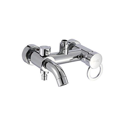 XVXFZEG Grifo de la cocina moderna de acero inoxidable de mezclador del grifo de lavabo de la cocina grifos de lavabo con el canalón for baño caliente y frío de la cocina Agua doble orificio de colada