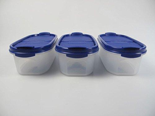 TUPPERWARE Eidgenossen 500 ml blau mit Schütte (3) Trockenvorrat Dose Modular