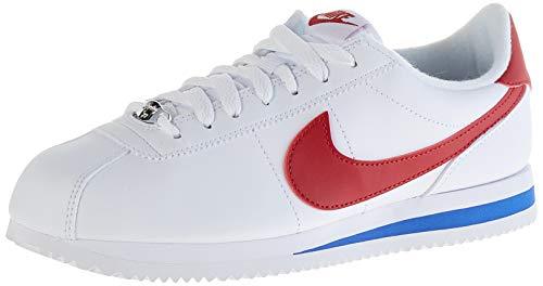 Nike Mens Cortez Basic Leather Shoe, Zapatillas de Running para Hombre, Blanco (White/Varsity Red/Varsity Royal 103), 43 EU