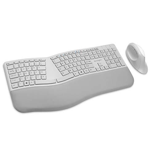 Kensington Pro Fit Ergonomic Wireless Keyboard and Mouse - Grey (K75407US)