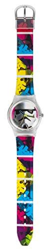 Star Wars STAR348 - Reloj de Cuarzo, para niño, con Correa de plástico, Multicolor