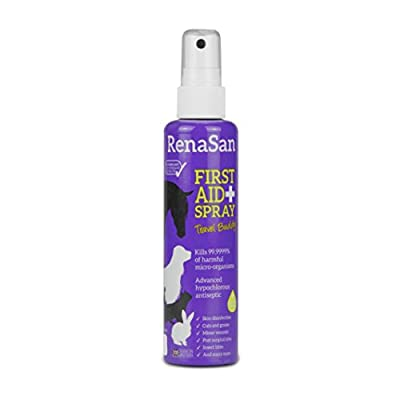 RenaSan First Aid Spray - Travel Buddy 100ml - Antiseptic for all animal, avian and reptile species. from Renapur Ltd