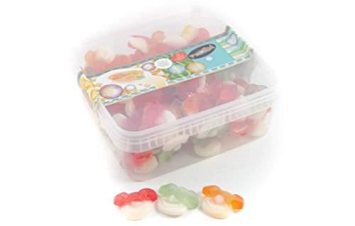 Fruchtgummi Clowns - zuckerfrei - in einer praktischen AromaFrischeNaschbox 1kg - Deine Naschbox.