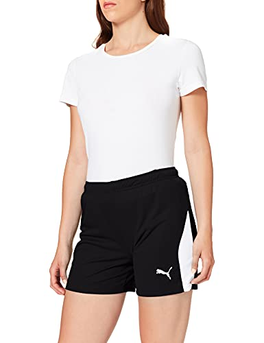 PUMA Liga Shorts W, Pantaloni Tuta Donna, Nero (Black/White), M