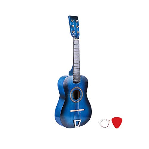 RuiyiF Kids Guitar for Girls Boys 6 Strings, 23 Inch Toddler Toy Acoustic Guitars for Kids Age 3-5 Years Educational Toy (Blue)