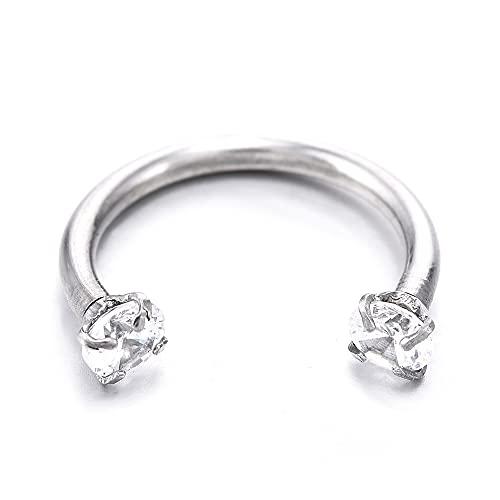 XKMY Piercing para la nariz, nariz, labio, septo, cartílago, anillo cautivo, pendientes de joyería, piercing para la nariz, tragus (color metálico: ED428)