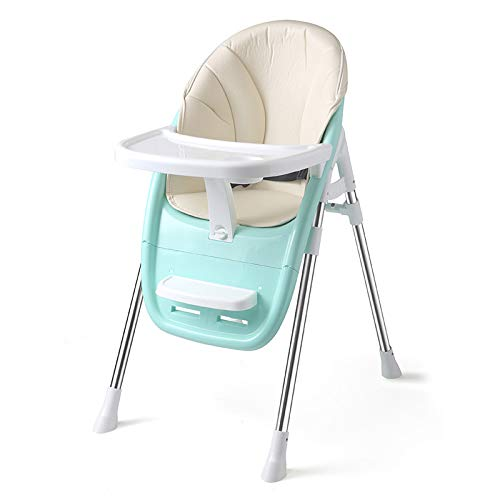 Best Buy! High Chair Foldable Portable Multi-Function Easy to Clean Suitable As A Baby Chair,Green