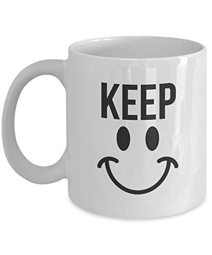 N\A Regalos para fanáticos de los Emojis: Emoji, emoticonos, emoticonos, emoticonos, Personajes, Tazas Blancas, Tazas de café de cerámica