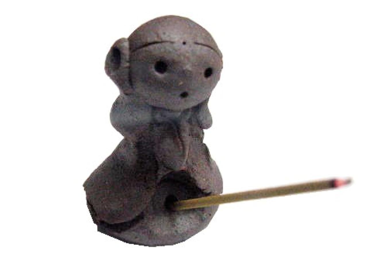 自治振動させるモール淡路梅薫堂の可愛い幸せを呼ぶお地蔵様のお香立て スティック コーン かわいい incense stick cones holder #433